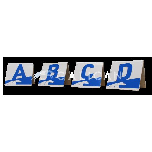 Letras A-B-C-D en pvc (colores)